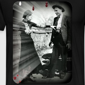 bonnie and clyde with gun T-Shirts - Men's Premium T-Shirt
