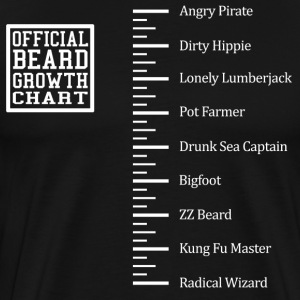 Funny Beard Ruler Shirt - Men's Premium T-Shirt