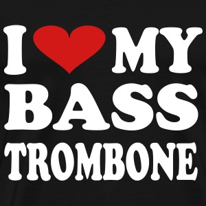 I Love My Bass Trombone - Men's Premium T-Shirt