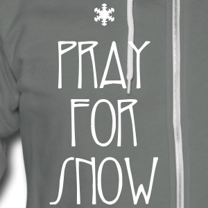 Pray for Snow - Unisex Fleece Zip Hoodie by American Apparel