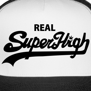 Real SuperHigh Trucker Hat Blk/Wht - Trucker Cap