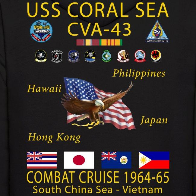 USS CORAL SEA 1964-65 CRUISE HOODIE
