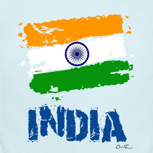 India Flag Baby Bodysuits - Short Sleeve Baby Bodysuit