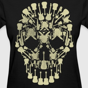 Musical Instruments Skull T-Shirt - Women's T-Shirt