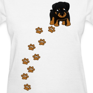 Rottweiler Puppy Dog T-Shirt - Women's T-Shirt