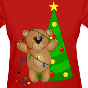 Teddy Bear at Christmas T-Shirt - Women's T-Shirt