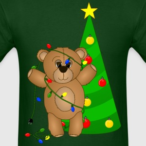 Teddy Bear at Christmas T-Shirt - Men's T-Shirt