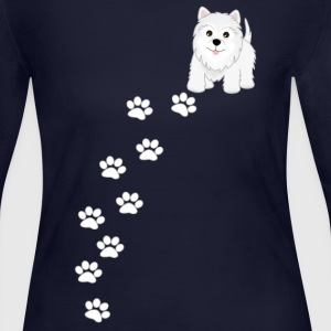 Westie Puppy Dog T-Shirt - Women's Long Sleeve Jersey T-Shirt