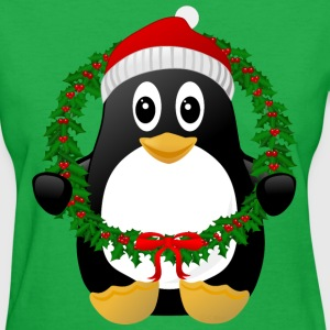 Funny Kawaii Christmas Penguin T-Shirt - Women's T-Shirt