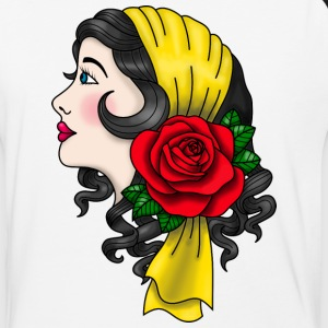 Gypsy Woman in American Traditional Style T-Shirt - Baseball T-Shirt