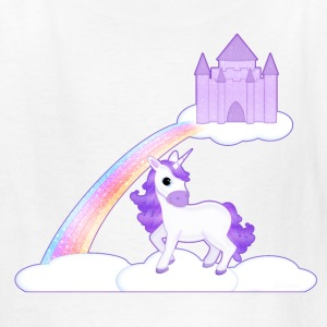 Purple Unicorn on Clouds T-Shirt - Kids' T-Shirt