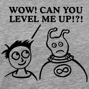 ALIEN LEVEL UP T-Shirts - Men's Premium T-Shirt