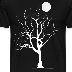 Dead Tree with Moon - Men's - Men's Premium T-Shirt