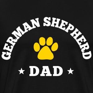 German Shepherd Dad T-Shirts - Men's Premium T-Shirt