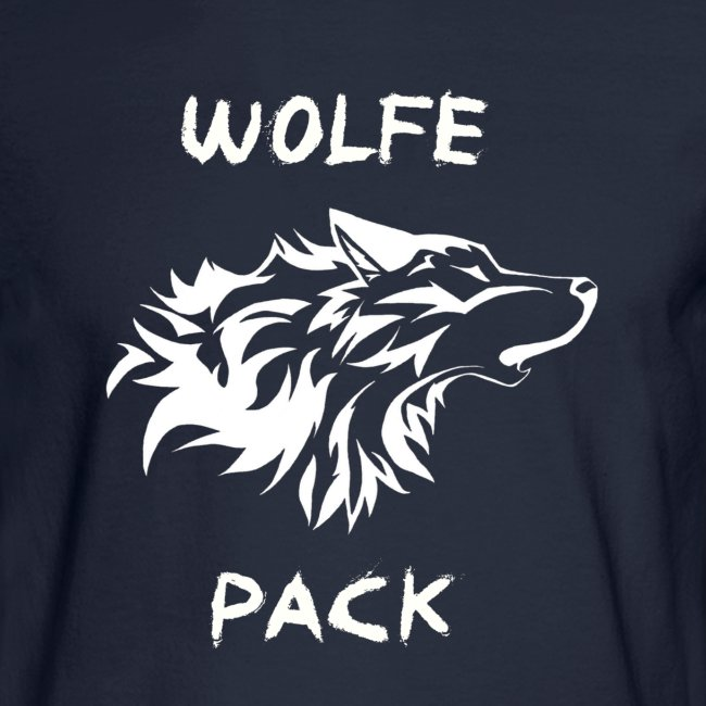 Wolfe Pack (Guys - Longsleeves Navy Version)