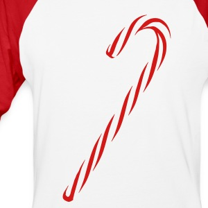 Red And White Candy Cane - Baseball T-Shirt