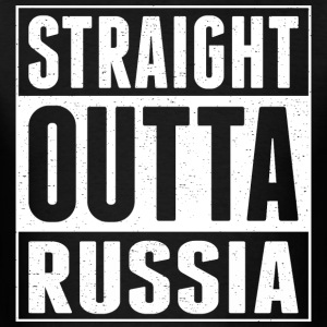 Straight Outta Russia - Men's T-Shirt