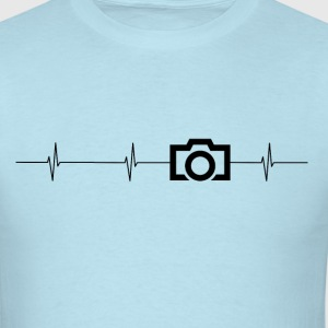 Camera Heartbeat Mens T - Men's T-Shirt