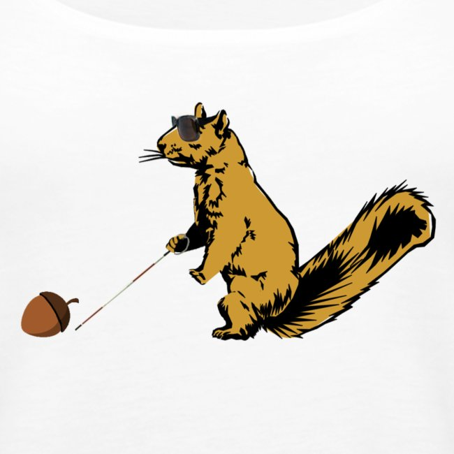 T Notions Com Blind Squirrel Finds A Nut Womens Tank Top