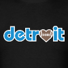 Detroit Football Love - Men's T-Shirt