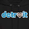 Detroit Football Love - Men's Hoodie