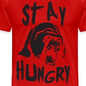 Stay Hungry (Gorilla) - Gym Motivation T-Shirts - Men's Premium T-Shirt