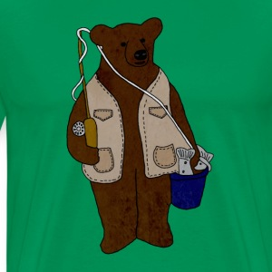 Fishing Bear - Men's Premium T-Shirt
