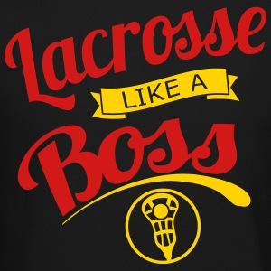 Lacrosse Like a Boss Long Sleeve Shirts - Crewneck Sweatshirt