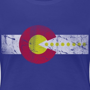 Retro 80s Flag of Colorado Women's T-Shirts - Women's Premium T-Shirt
