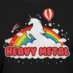 Heavy Metal (Unicorn and Rainbow) Women's T-Shirts - Women's T-Shirt