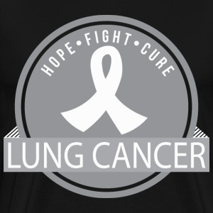 Lung Cancer Hope Fight Cure T-Shirts - Men's Premium T-Shirt
