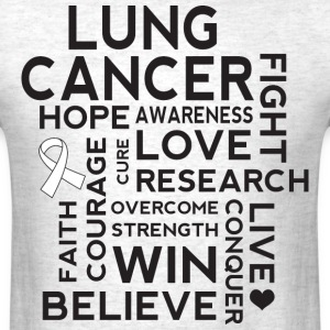Lung Cancer Awareness Walk Slogan T-Shirts - Men's T-Shirt