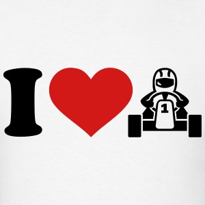 I love Kart T-Shirts - Men's T-Shirt