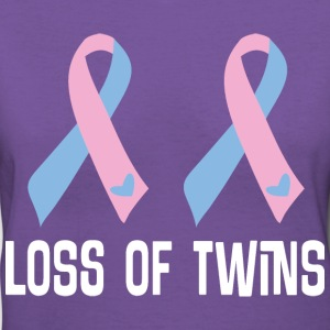 Loss Of Twins Infant Ribbon Awareness Women's T-Shirts - Women's V-Neck T-Shirt