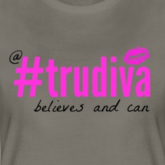 A TruDiva Believes & Can Tee - Dark Grey
