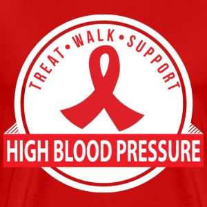 High Blood Pressure Treat Walk Support Ribbon T-Shirts - Men's Premium T-Shirt