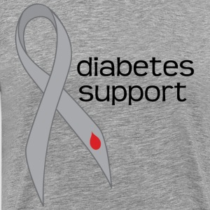 Diabetes Support Gray Awareness Ribbon T-Shirts - Men's Premium T-Shirt