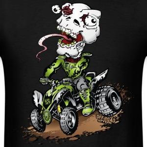 ATV Quad Crazy Skully T-Shirts - Men's T-Shirt