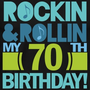 70th Birthday Music Themed Funny T-Shirts - Men's Premium T-Shirt