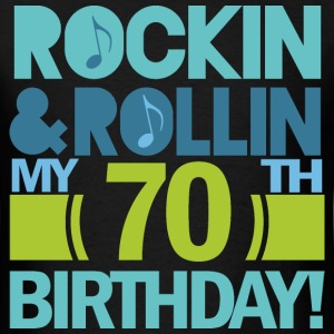 70th Birthday Music Themed Funny T-Shirts - Men's T-Shirt