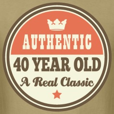 40th Birthday Funny Vintage Crown T-Shirts