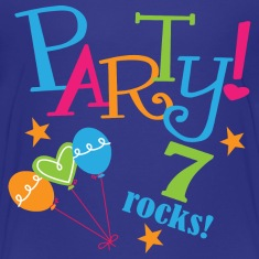 7th Birthday Party 7 Rocks Kids' Shirts