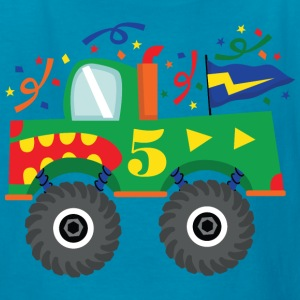 5th Birthday Monster Truck Party Kids' Shirts - Kids' T-Shirt