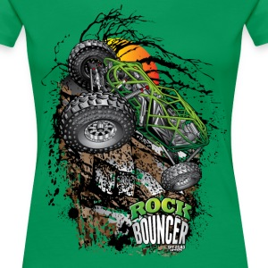 Rock Bouncer Sunset Grn Women's T-Shirts - Women's Premium T-Shirt