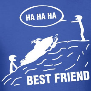 Snowmobile Ha Ha Ha Best Friend - Men's T-Shirt
