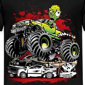 Ghoulish Monster Truck Kids' Shirts - Kids' Premium T-Shirt