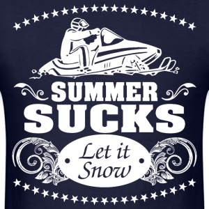 Summer Sucks Let It Snow - Men's T-Shirt