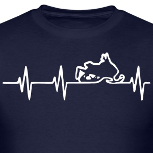 Heartbeat Snowmobile    - Men's T-Shirt