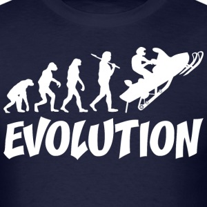 Snowmobiler Evolution - Men's T-Shirt