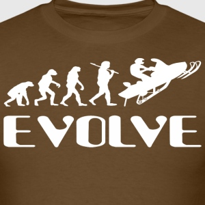 Evolve Snowmobile  - Men's T-Shirt